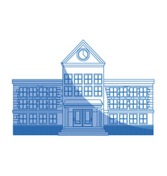 School building education learning construction vector