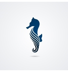 Seahorse isolated on white background vector image