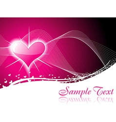 Shiny heart background vector