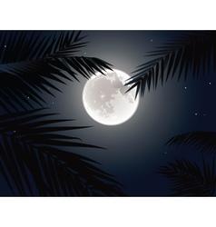 Tropical moon vector