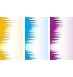 vector abstract halftone backgrounds vector image vector image