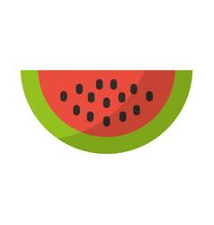Watermelon fresh fruit isolated icon vector