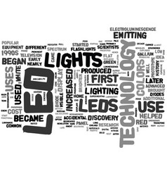 Where did led technology come from text word vector