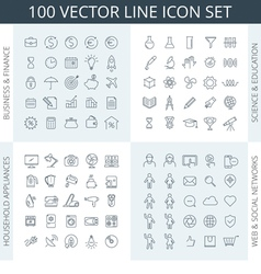 100 icons vector