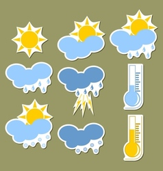 Weather forecast stickers vector