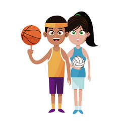 assorted sports people icon imag vector image
