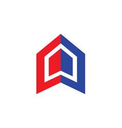 Shape business construction company logo vector
