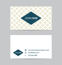 Editable business card template vector