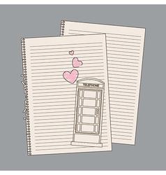 romantic draw vector image