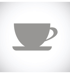Cup black icon vector