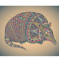 Armadillo hand drawn vector