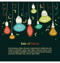 Different types of bulbs vector