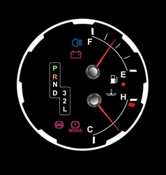 car dashboard vector image