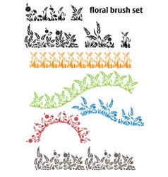 Floral brush set vector
