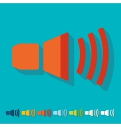 Flat design sound on vector