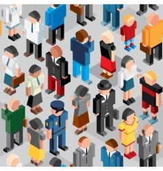 People crowd seamless patten vector