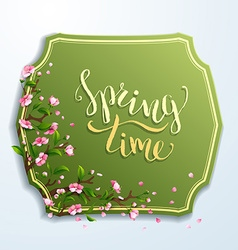 Spring time template vector