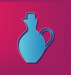 Amphora sign blue 3d printed vector