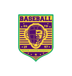 baseball minor league championship vintage label vector image vector image