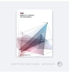 Brochure template cover design annual report vector