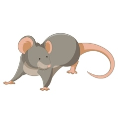 Cartoon smiling Mouse vector image