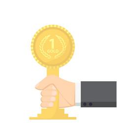 champion gold award vector image vector image