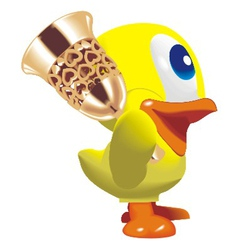 duck with bell vector image