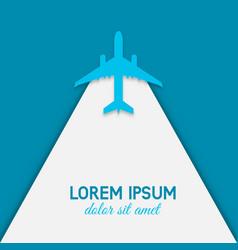 flying plane on blue background vector image