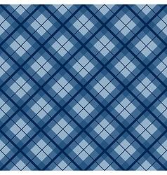 Navy Blue Tartan Diamond Background vector image