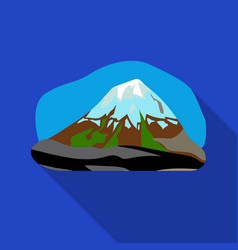 popocatepetl icon in flat style isolated on white vector image vector image