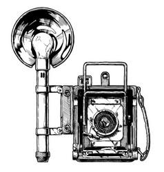 press camera vector image