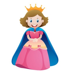 Princess in pink dress vector