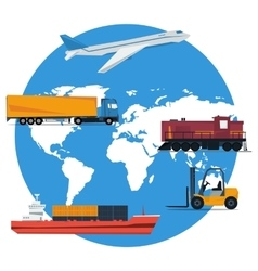 round concept logistics transportation vector image