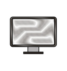 screeen monitor of computer device technology vector image