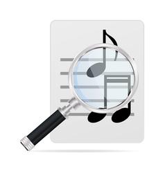 Seach music vector