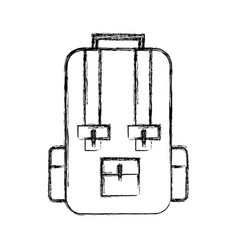 sketch draw travel backpack cartoon vector image