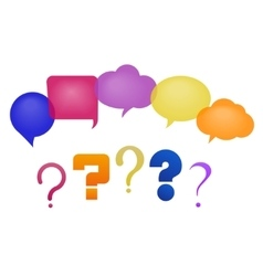speech bubbles and questions vector image vector image