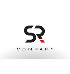 sr logo letter design vector image vector image