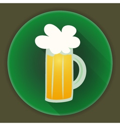St patrick day beer glass mug icon vector