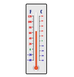 thermometer vector image vector image