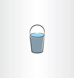 Water bucket icon design vector