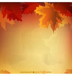 abstract autumn background vector image