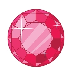 Beautiful Red Ruby Icon vector image