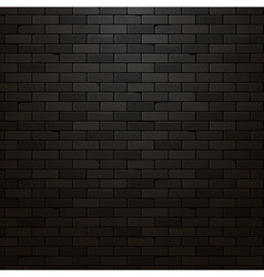 Black brick wall background dark brick texture vector