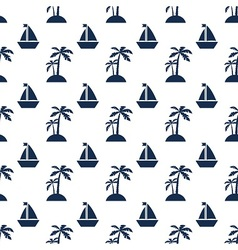 Palms and ships vector