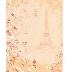 Paris background with the Eiffel tower vector image