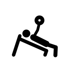 Monochrome pictogram of man with training vector