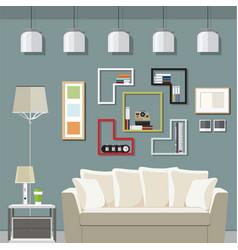 Elegant living room vector