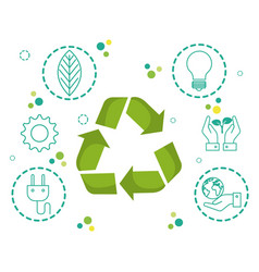 recycling related design vector image