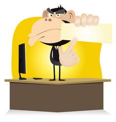 funny monkey boss vector image